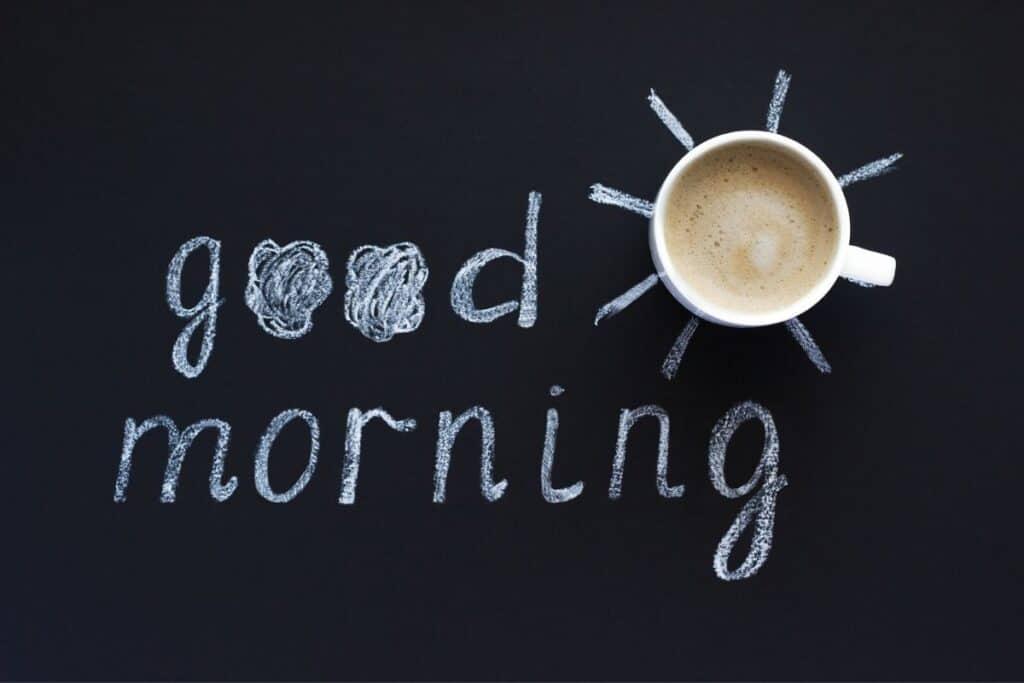 good morning text image