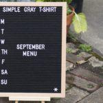 letter board that says September menu
