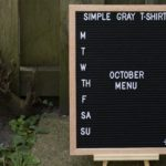 letter board that says October menu