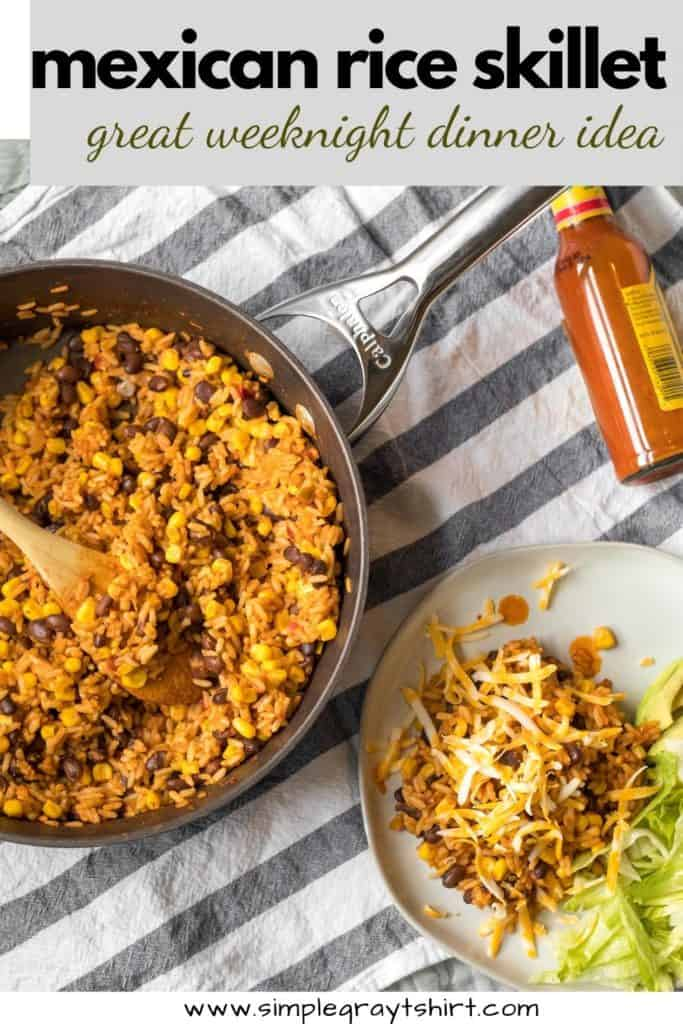 pin for mexican skillet rice