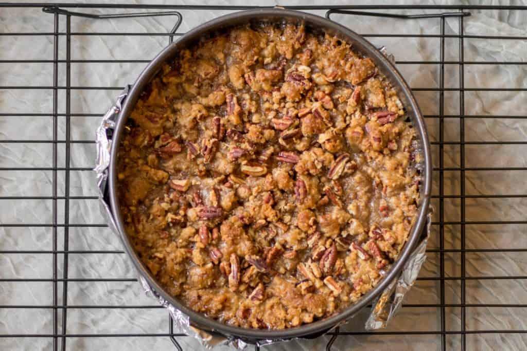 sweet potato pie in a springform pan