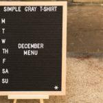 letterboard that say december menu
