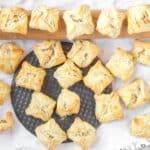 potato puff appetizers with a rolling pin