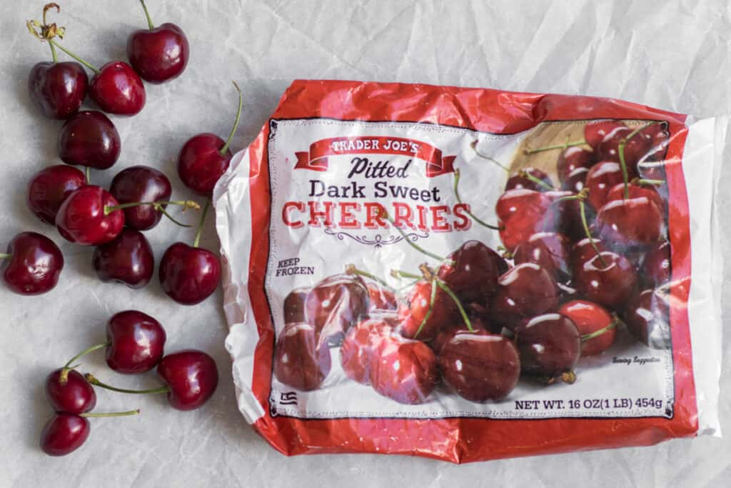 ingredients for cherry puree