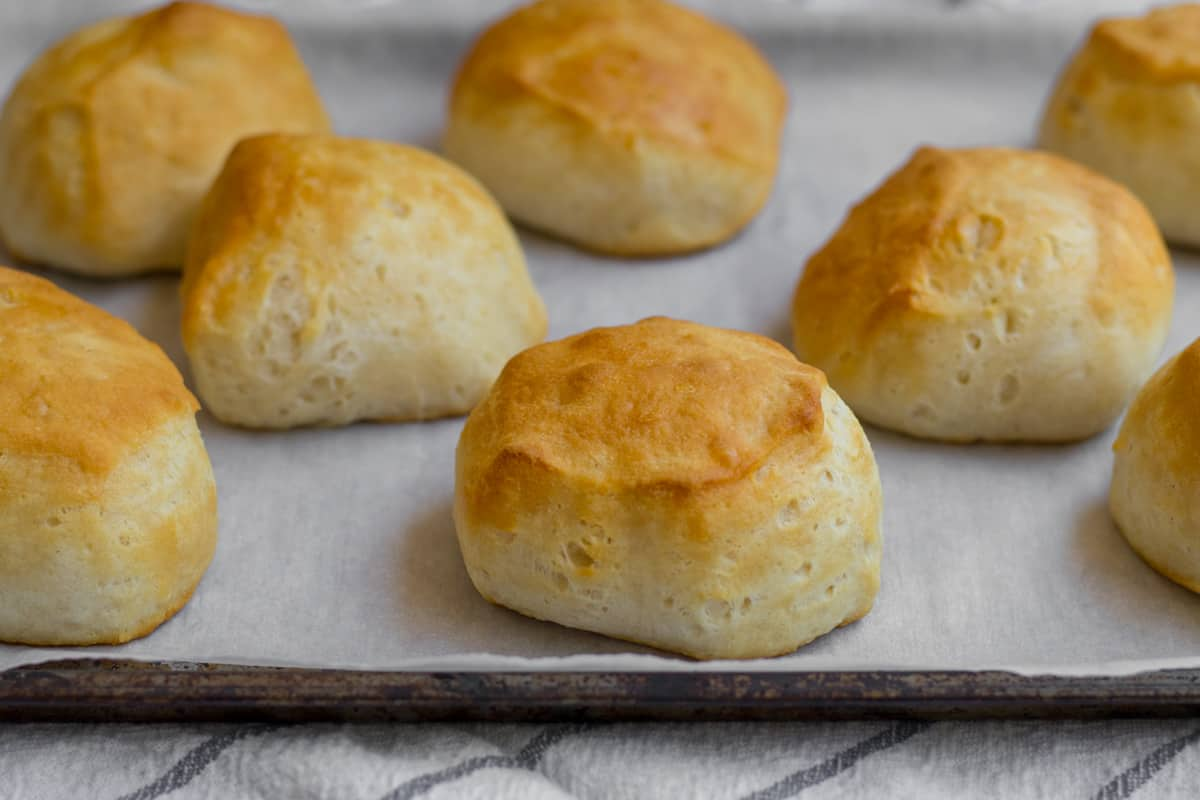 biscuits on a sheet pan
