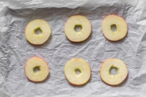 round apple slices with the core cut out