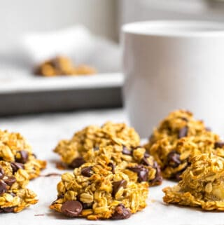 breakfast cookies with a cup of coffee