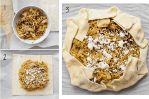 steps to fold a tart with puff pastry