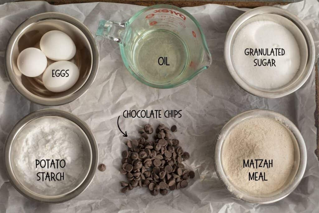 ingredients for passover mandel bread
