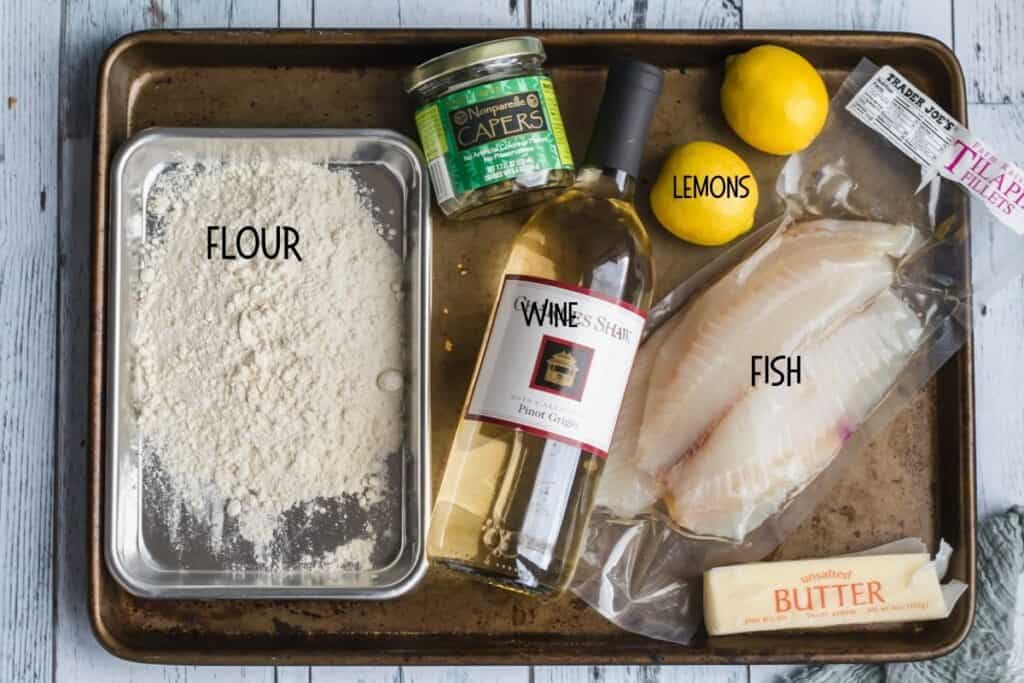ingredients for fish piccata