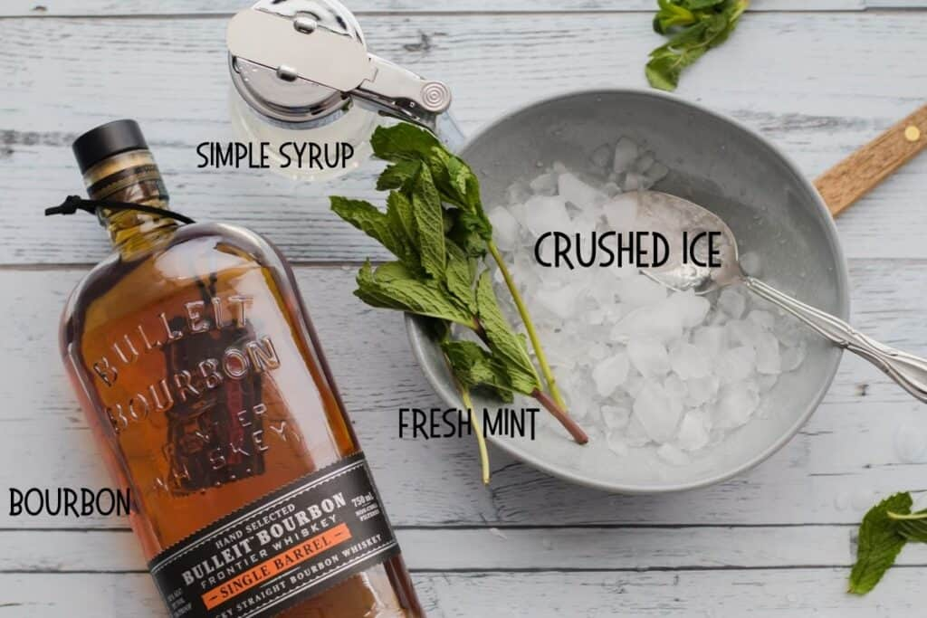ingredients for mint juleps