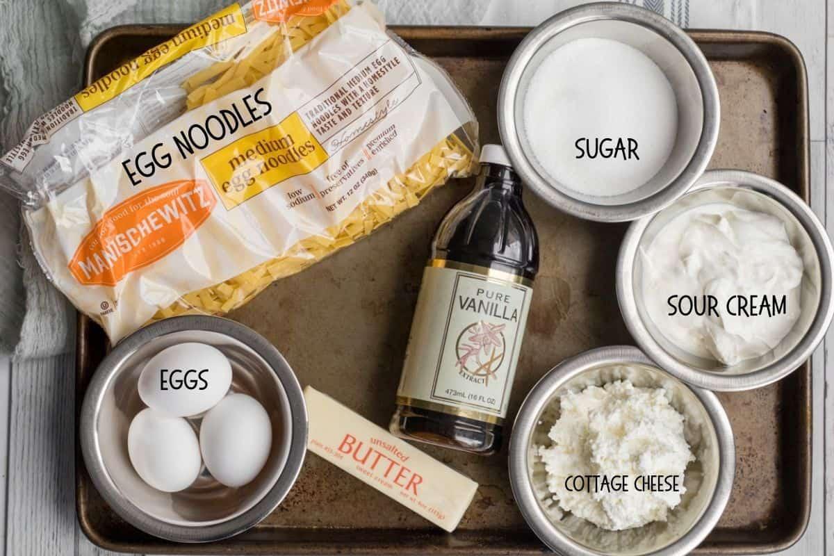 ingredients for noodle kugel