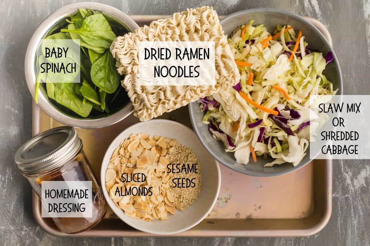 ingredients for cabbage crunch salad